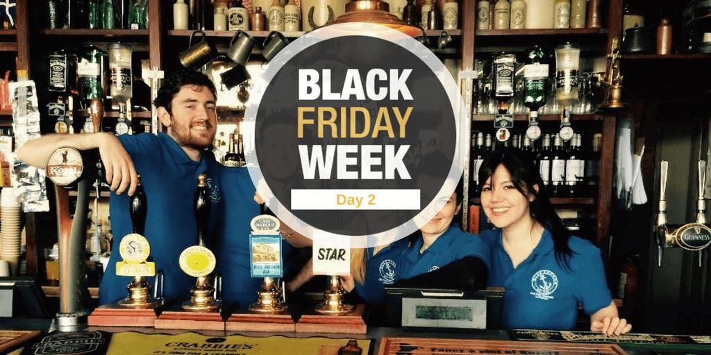 Black Friday Week – Día 2- Rebajamos 100€ el programa de trabajo en Londres