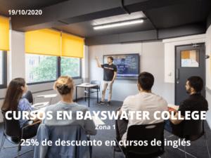 Descuentos cursos de inglés en Bayswater College Londres