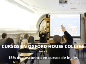 Descuentos cursos de inglés Oxford House College Londres
