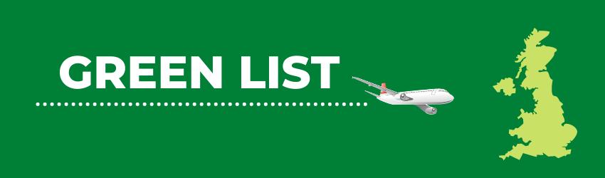 Reino Unido - Países en la lista verde