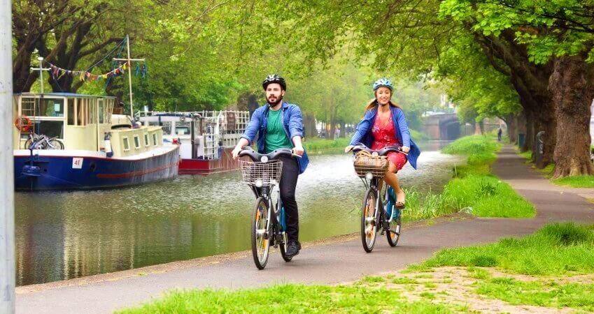 En bici por Dublín