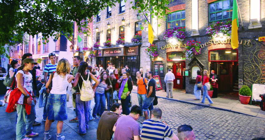 Paseando por el centro de Dublín