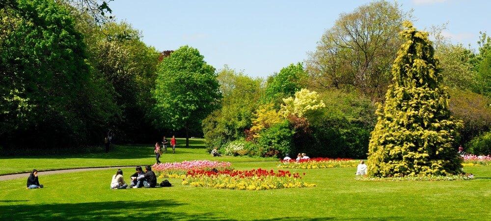 En el parque en Dublín